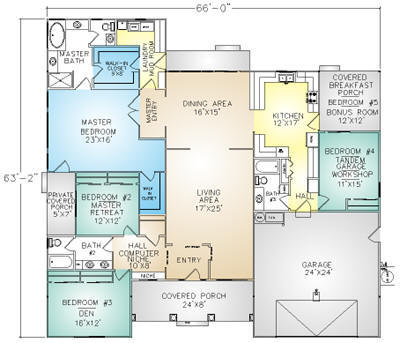 PMHI Astoria floor plan with 5 bedrooms including huge master suite