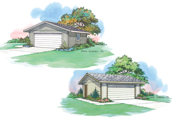 Pacific Modern Homes pre-engineered garage plan and panelized framing kit