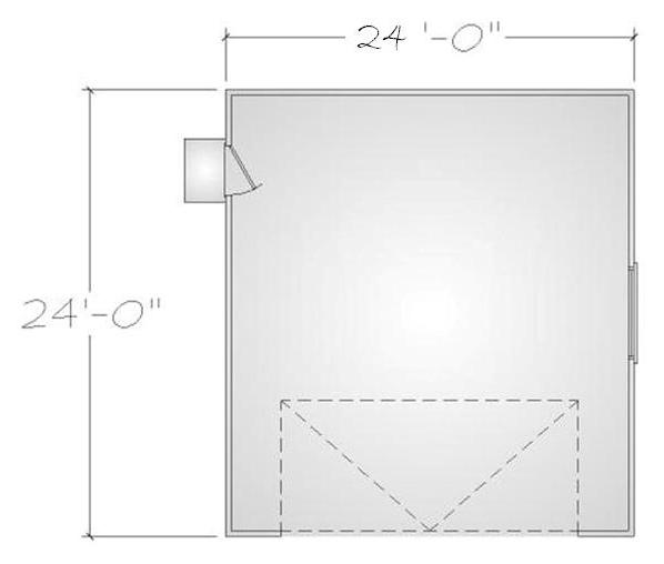 pacific modern homes framing kit for 24 x 24 garage